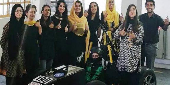 پاکستانی طالبات کی بنائی گئی فارمولا ریس کار نے پہلی پوزیشن حاصل کرلی
