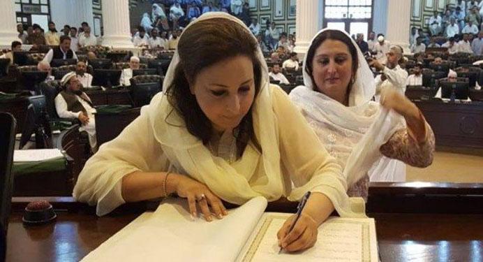 کے پی کے اسمبلی میں کئی خواتین اراکین کروڑ پتی ہیں
