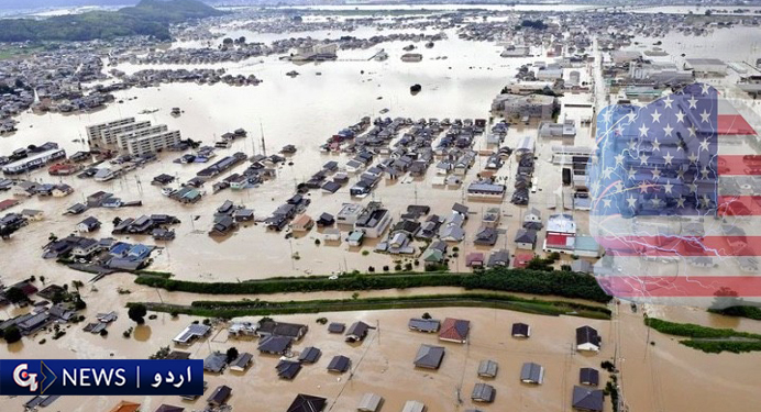 ایران سیلاب اور امریکی دہشتگردی کی زد میں