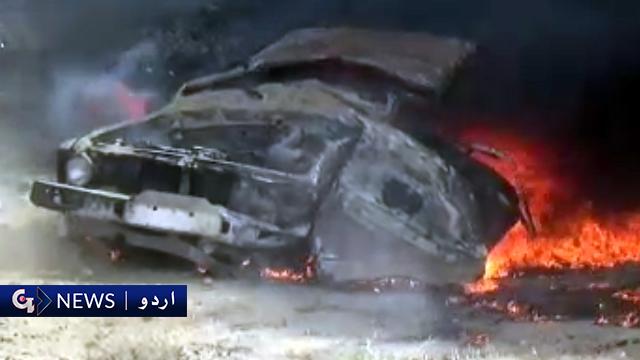 پنجگور : سی پیک روڈ پر دو میں تصادم، آگ لگنے سے ایک شخص جاں بحق