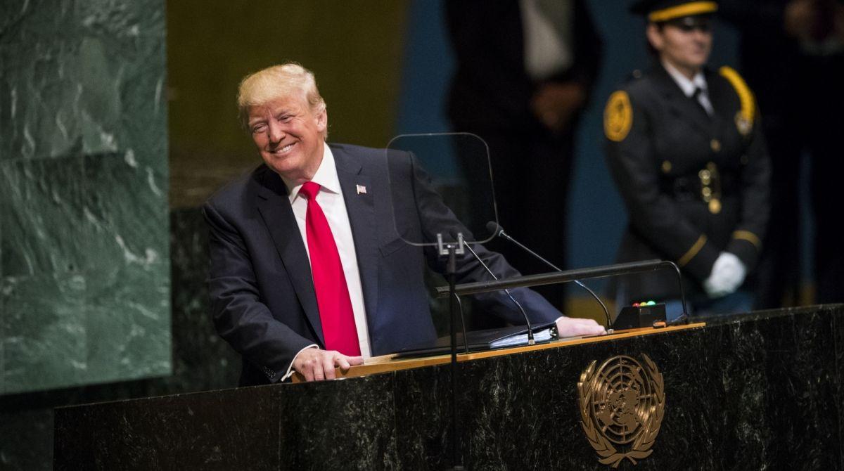 اقوام متحدہ میں امریکی صدر ڈونلڈ ٹرمپ کی متضادباتیں