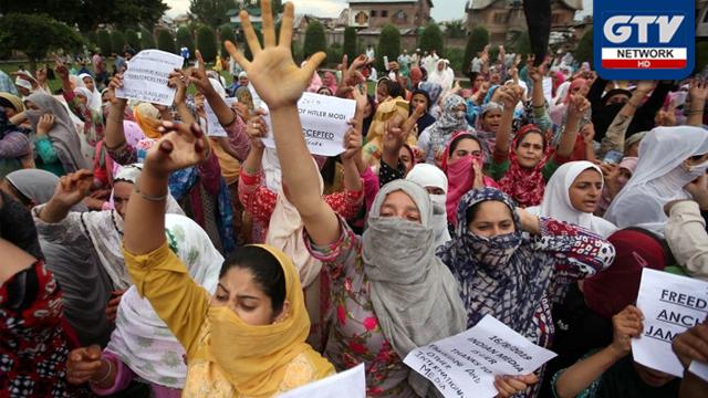 کشمیری خواتین کی بھارتی ظلم و جبر کے خلاف مقابلہ، قابل تحسین قرار