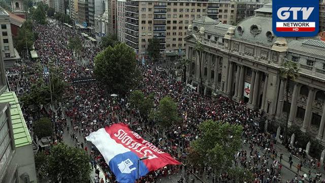 چلی : تین ہفتوں سے جاری مظاہروں کے دوران انیس افراد ہلاک