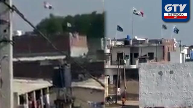 کرتار پور راہداری کھولنے پر بھارت میں پاکستانی پرچم لہرا دیئے گئے