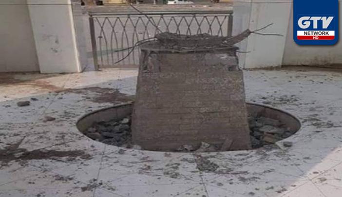 عزیز آباد کے جناح گراؤنڈ میں یادگار شہداء کو نامعلوم افراد نے مسمار کردیا