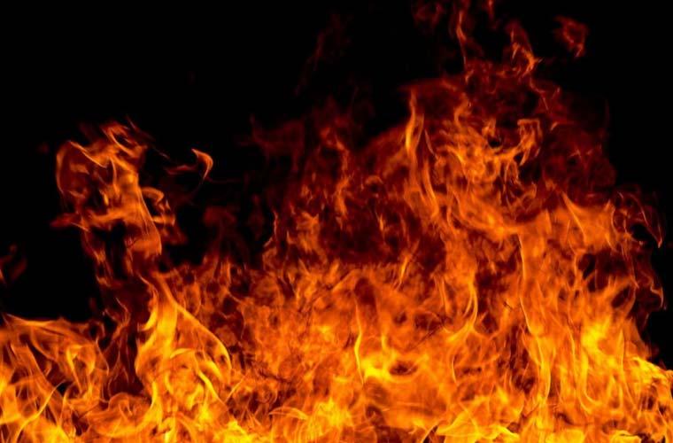 گھر میں آگ